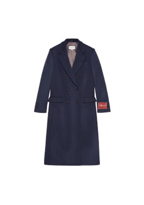 Wool coat with Gucci label