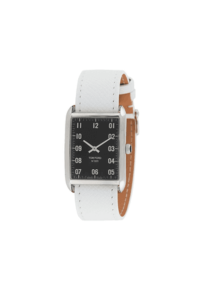 Tom Ford Watches 001 rectangular 30mm - White
