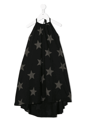 Nununu star-print drawstring dress - Black