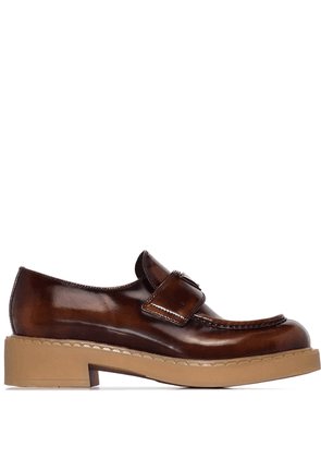 Prada logo-detail loafers - Brown