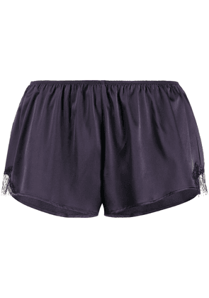 Gilda & Pearl Madame X lace trim shorts - Blue