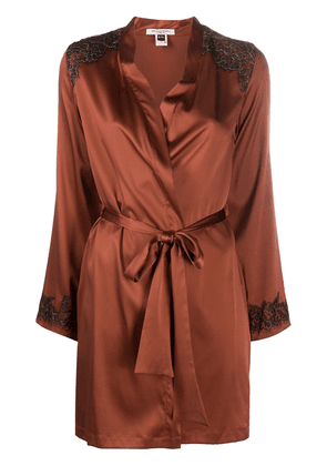 Gilda & Pearl Madame X silk robe - Brown