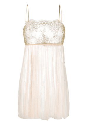 Gilda & Pearl lace embroidered slip dress - GOLD