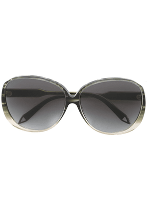 Victoria Beckham large oval sunglasses - Green