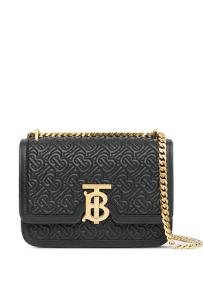 Burberry small quilted monogram bag - Black