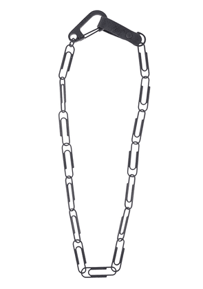 Off-White paperclip-link necklace - Black