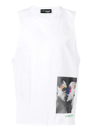 Dsquared2 X Mert and Marcus printed patch tank top - White