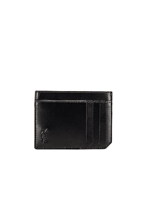 Saint Laurent YSL Credit Card Holder in Black - Black. Size all.