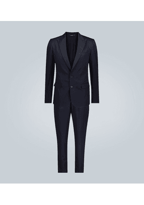 Cotton and silk-blend suit