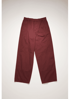 Acne Studios FN-MN-TROU000347 Burgundy Straight-leg cotton trousers