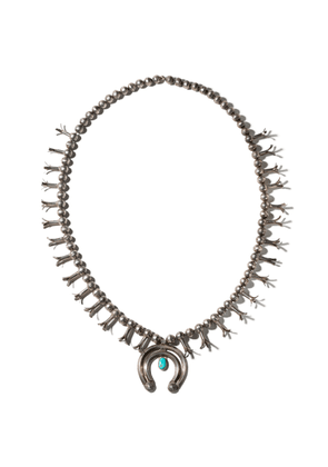 Windsor Jewelers Vintage Silver & Oval Turquoise Necklace