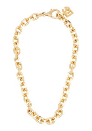 Dolce & Gabbana Country Logo-Detailed Gold-Tone Brass Chain Necklace