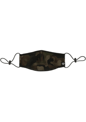 Mostly Heard Rarely Seen camouflage mesh face mask - Black