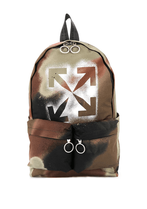 Off-White Arrows stencil camo backpack - Green