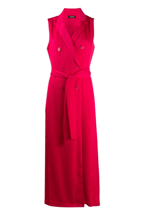 Twin-Set double-breasted tie waist dress - PINK