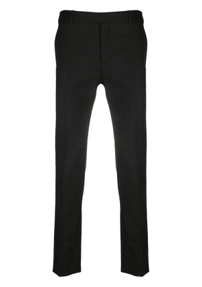 Saint Laurent pinstripe tailored trousers - Black