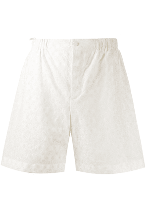 Gucci GG embroidered shorts - White