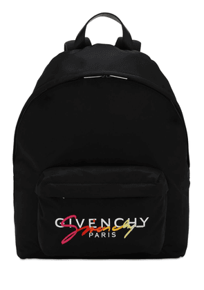 Logo Embroidered Nylon Urban Backpack