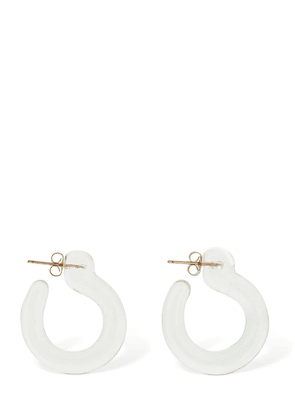 Small Glassy Hoop Earrings