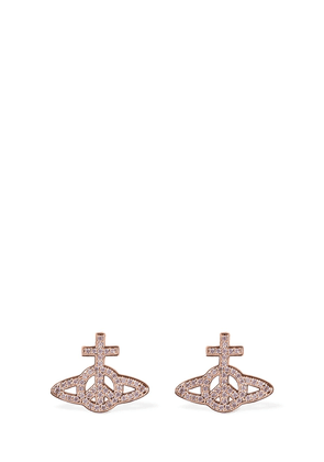 Peace Pavé Earrings