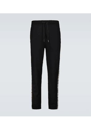 Cotton side-striped trackpants