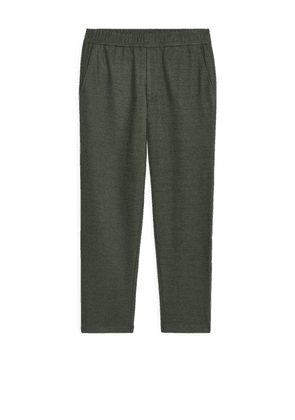 Wool Blend Trousers - Green
