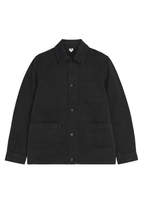 Overdyed Twill Overshirt - Black