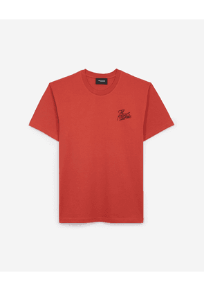 The Kooples - Red cotton T-shirt by The Kooples Paris - MEN
