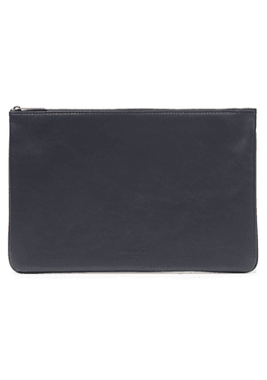 Balmain Leather Pouch Woman Midnight blue Size --