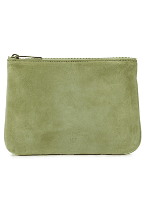 Balmain Suede Pouch Woman Leaf green Size --