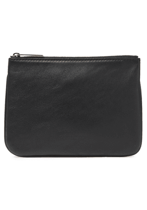 Balmain Pebbled-leather Pouch Woman Black Size --