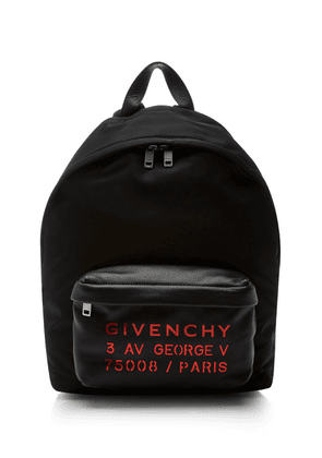 Givenchy Embroidered Textured-Leather And Nylon Backpack