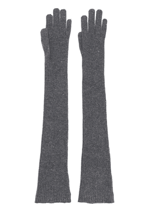 Brunello Cucinelli long knitted gloves - Grey
