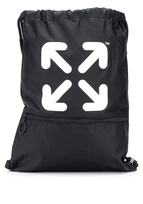 Off-White Arrows drawstring backpack - Black