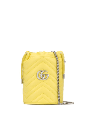 Gucci mini GG Marmont bucket bag - Yellow
