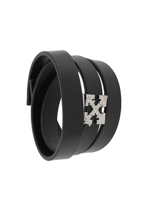 Off-White leather strap bracelet - Black