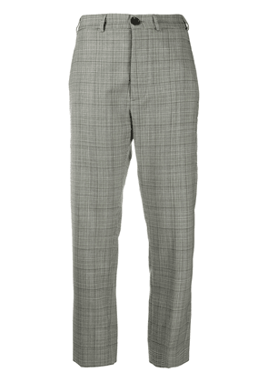 Vivienne Westwood check cropped trousers - White