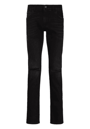 Dolce & Gabbana ripped knee slim fit jeans - Black