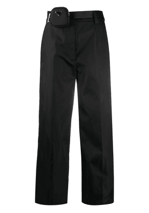 Prada wide-leg trousers - Black