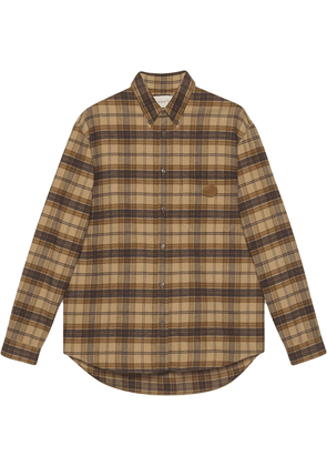 Gucci plaid long-sleeve shirt - Brown