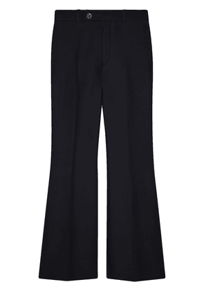 Gucci cropped flared trousers - Black