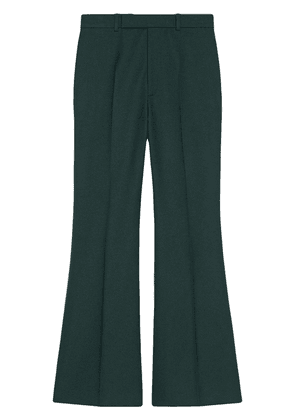 Gucci cropped flared trousers - Green