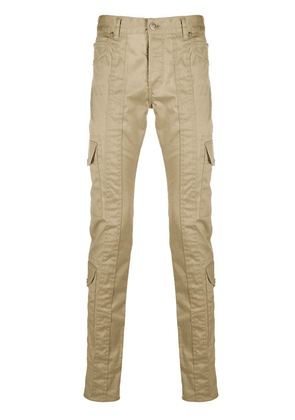 Balmain logo-embroidered cargo jeans - Neutrals
