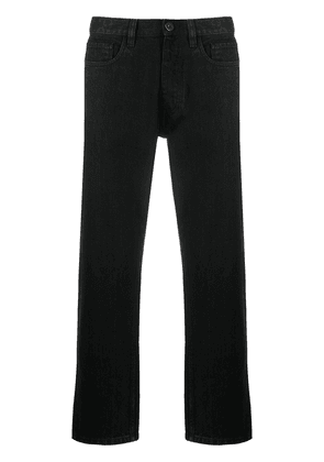 Prada logo plaque straight-leg jeans - Black