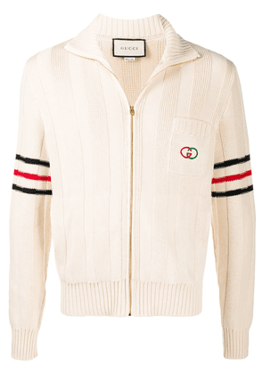 Gucci Interlocking G zipped cardigan - White