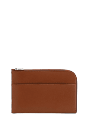 Smooth Leather Clutch