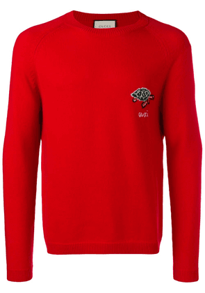 Gucci turtle pattern sweater - Red