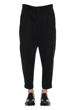 Baggy Cotton Gabardine Pants