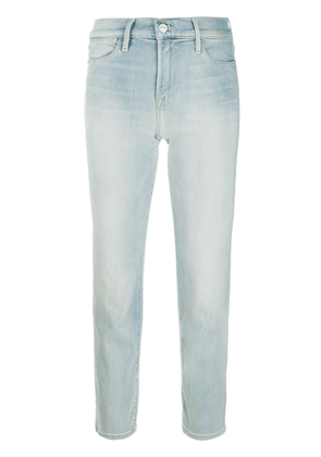 FRAME high-rise straight-fit jeans - Blue