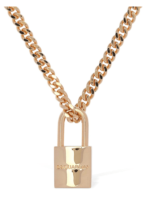 Padlock Charm Long Necklace